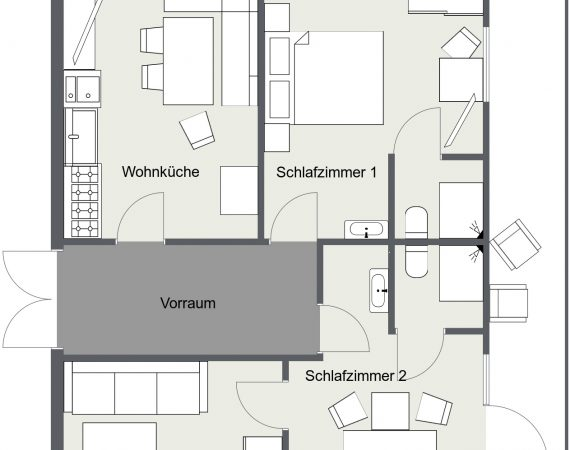 Apartment Grundriss