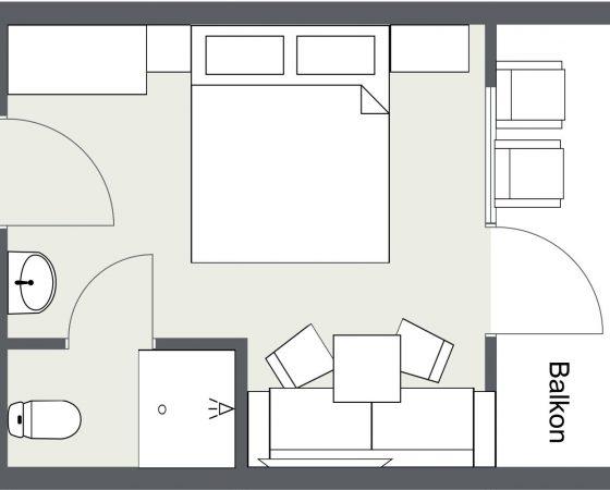 Grundriss Komfortzimmer